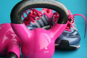 Kettlebells and running shoes
